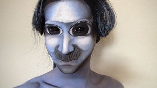 getlinkyoutube.com-「青鬼」- Ao Oni - ヒゲ鬼メイク方法(化粧)Moustache Oni Makeup Tutorial