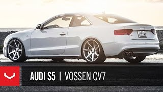 getlinkyoutube.com-Audi S5 on 20'' Vossen VVS-CV7 Concave Wheels | Rims