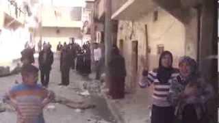 حلب نيوز || الشيخ خضر : صراخ أحد النساء بعد تهدم بيتها وفقد أحد أبنائها 24 2 2014