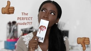 getlinkyoutube.com-The Perfect Nude for Darker Skin Tones? Kylie Jenner Thinks So | Lip Kit Review + Lip Swatch