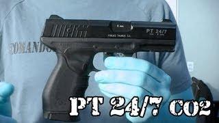 getlinkyoutube.com-Vendo Airsoft - Pistola PT 24/7 Taurus CO2 (Gás) - Legalizada Brasil