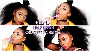getlinkyoutube.com-HOW TO- HALF UP HALF DOWN CROCHET METHOD| £4/40 MIN| NATURAL PROTECTIVE STYLE | LIZZIE LOVES