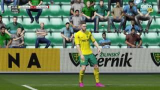 4K FIFA 16 MŠK Žilina - AS Trenčín (Štadión pod Dubňom) Fortuna liga 17