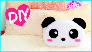 getlinkyoutube.com-DIY ROOM DECOR! Cute panda pillow (Sew/no sew) | Lovely gift idea!