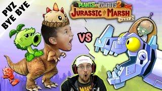NO MORE PVZ 2!  Mike vs. Jurassic Marsh Zomboss! Zombot Dinotronic Mechasaur (FGTEEV says Goodbye)