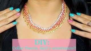 getlinkyoutube.com-DIY:✄ Collar Fucsia, Fàcil y econòmico!!  ♡ ♡