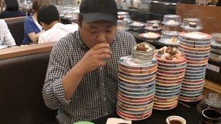 getlinkyoutube.com-식당깨기!! 초밥뷔페 60접시 먹어치우기!! with 인간흡입기 북극곰