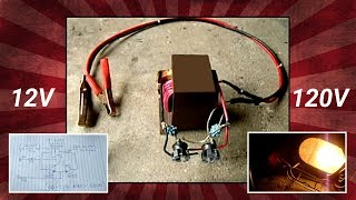getlinkyoutube.com-Microwave Oven Transformer(MOT) 12V to 120V Inverter