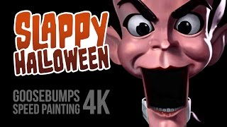 getlinkyoutube.com-Slappy Halloween Goosebumps Fan Art Speed Painting