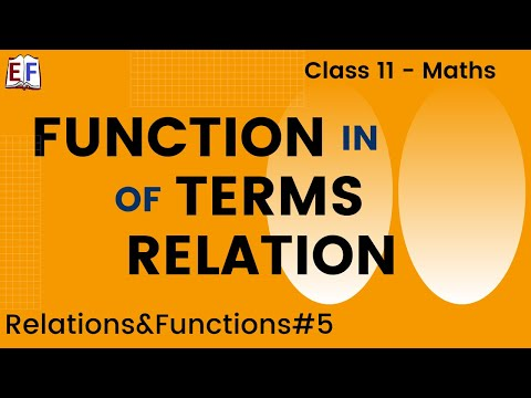 Maths Relation and Functions Part 5 (Function in terms of relation) Mathematics CBSE Class X1