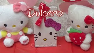 getlinkyoutube.com-Dulcero de Hello Kitty,Bolsita, (Material Reciclado)DIY Tutorial