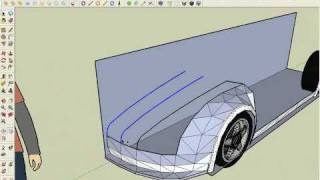 getlinkyoutube.com-Modeling a supercar in SketchUp part1/6