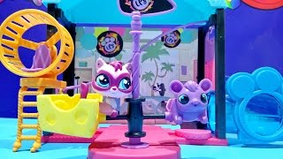 getlinkyoutube.com-Littlest Pet Shop Fun Park Style Set With Jebbie Cho ★ LPS Toys For Kids Worldwide