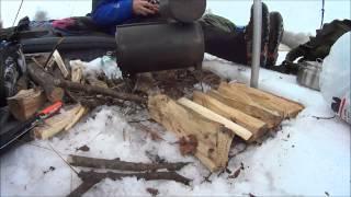 getlinkyoutube.com-6-day winter outing using my Kifaru 6-man tipi. 2014 Kifaru ECR.