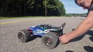 getlinkyoutube.com-E-Revo brush-less edition - RC Car speed runs with 4s 6s 19/65 and 19/54 gearing