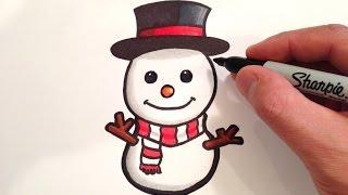 getlinkyoutube.com-How to Draw a Cute Snowman