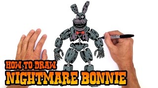 getlinkyoutube.com-How to Draw Nightmare Bonnie (FNAF 4)- Step by Step Lesson