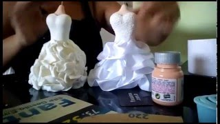 getlinkyoutube.com-Saias de vestido de noiva em biscuit