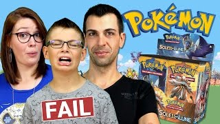 Ouverture Display Pokémon SOLEIL ET LUNE (1/2) MEGA FAIL DE LUCAS ! Family Geek