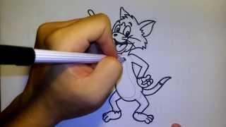 getlinkyoutube.com-วาดการ์ตูนกันเถอะ สอนวาดรูป การ์ตูน ทอม Tom TOM AND JERRY