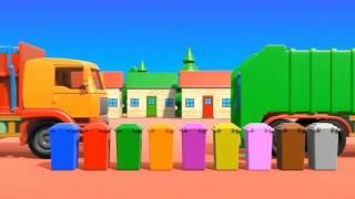 getlinkyoutube.com-Вчимо кольори.  мультик про сміттєвоз. Мультики про машинки українською мовою. Про вантажівку