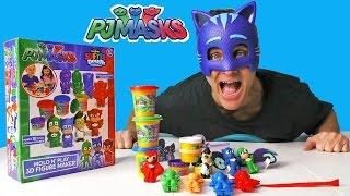 getlinkyoutube.com-PJ Masks Softee Dough Mold N Play Figure Maker ! || Toy Reviews || Konas2002