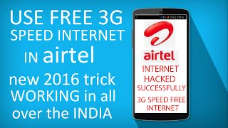 "getlinkyoutube.com-""how to use 3g speed free internet in airtel   2016"" {high speed}"