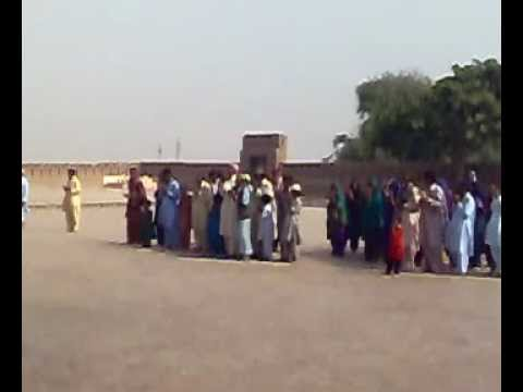 A Group Of Villagers Praying At The Shrine Of Shah Rukn-e-Alam (RA) At Multan