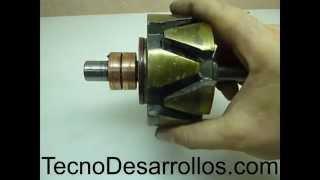 getlinkyoutube.com-Cómo funciona el Rotor de un Alternador