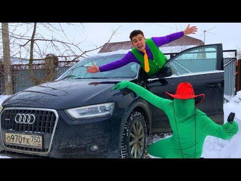 Green Man on Audi Q3 lost Car Keys VS Mr. Joe found Sport Car & Started Race for Kids