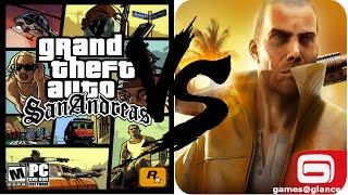 GTA San Andreas vs Gangstar Vegas Comparison Review