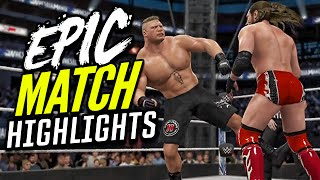getlinkyoutube.com-WWE 2K16 Brock Lesnar vs. Daniel Bryan | Epic Match Highlights!