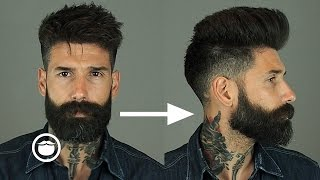 getlinkyoutube.com-How to Style a Natural Pompadour with Skin Fade | Carlos Costa