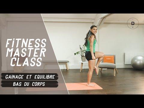 Gainage et équilibre – Bas du corps (20 min) - Fitness Master Class