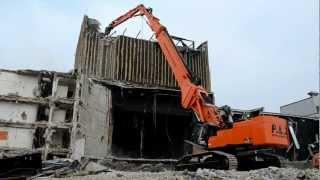 getlinkyoutube.com-Hitachi ZX 870-3 XXL highreach demolition excavator, P&Z Abbruch