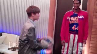 Justin bieber et les harlem globe trotters