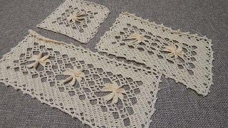 getlinkyoutube.com-Flor 3D Rectangular Crochet parte 1 de 3