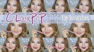 getlinkyoutube.com-COLOURPOP ULTRA SATIN LIP   LIP SWATCHES (Mini Collection) ♡ Shen Asidor