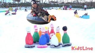 getlinkyoutube.com-ジャンボウリング大会&スキー ぐりんぱ お出かけ こうくんねみちゃん Giant Bowling in Snow Park