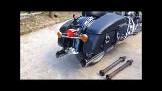 getlinkyoutube.com-Harley Davidson Road King Classic with Bassani Exhausts - How to take out the bafflers