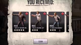 getlinkyoutube.com-Walking Dead : Road to Survival - EPIC 5 STAR Rick Grimes Pulled!