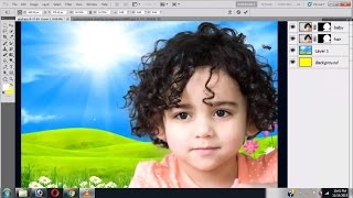 getlinkyoutube.com-#08 Perfect Hair cutting out Photoshop Refine Edge