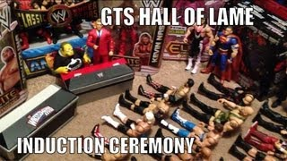 getlinkyoutube.com-GTS HALL OF LAME Induction Ceremony: Wrestling action figures WWE Fame parody Mattel Jakks