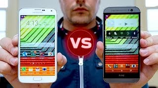 getlinkyoutube.com-Samsung Galaxy S5 vs HTC One M8