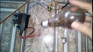 getlinkyoutube.com-Primeiro teste do reator com o flyback fazendo Globo/Bola de Plasma