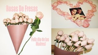 getlinkyoutube.com-Como hacer rosas con fresas y chocolate♥Para el Día de las Madres