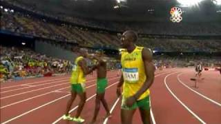 Usain Bolt - 6 World Records in 100m (9.72, 9.69, 9.58), 200m (19.30 19.19), 4x100m relay (37.10)