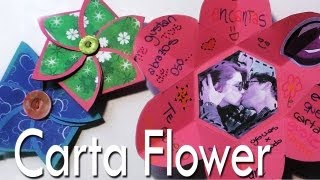 getlinkyoutube.com-Carta Flower...una Carta dentro de una Flor // Scrapbook