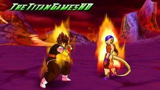 getlinkyoutube.com-Dragon Ball Z Shin Budokai Mods 2 - Goku Absalon Ssj False Vs Freezer Gold