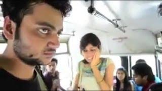 getlinkyoutube.com-Girl slap to a innocent boy and Then Boy slap to a Girl in a bus.MP4